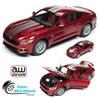Auto World 118  164 2017 Ford Mustang GT Ruby Red Diecast AW245