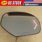 For 07 13 Cadillac Chevrolet Tahoe GMC Yukon Mirror Glass Heated Signal Right RH