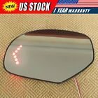 For 07 13 Cadillac Chevrolet Tahoe GMC Yukon Mirror Glass Heated Signal Driver
