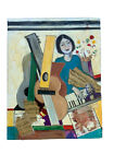 Oil Painting Music Guitar Liszt Collage Signed 2013 Number One
