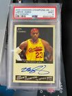 2009 Upper Deck Goodwin Champions Lebron James AUTO PSA 9 MINT On Card Autograph