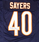 CHICAGO BEARS GALE SAYERS AUTOGRAPHED SIGNED BLUE JERSEY PSA DNA 176027