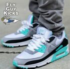 Authentic Nike Air Max 90 Hyper Turquoise Blue White Grey Black CD0881 100