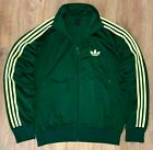 Adidas Originals rare Green Lime Yellow tracksuit track top jacket size L