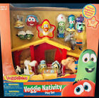 Veggie Tales Singing Nativity Set Toys Figures Bible Christmas Child Jesus New