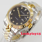 Bliger 395mm two tone black dial dial date sapphire glass Automatic mens watch