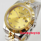 Bliger 395mm two tone gold dial dial date sapphire glass Automatic mens watch