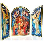 Nativity of Christ Icon Russian Orthodox Catholic Christian Christmas Triptych