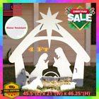 4 Ft Christmas Nativity Set Jesus Born Scene Waterproof Outdoor Lawn Yard Decor