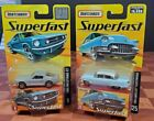 MatchBox Super Fast Limited Edition 1965 Mustang 8  1955 Cadillac 25 Seald