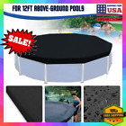 12ft Swimming Pool Cover Round for Above Ground Frame Winter Mesh 12 Ft Foot US