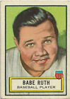 1952 Topps BABE RUTH Famous Americans LOOK 'N SEE Card # 15 NICE NO CREASES