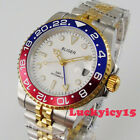 BLIGER Two tone 40mm white dial jubilee sapphire glass GMT Automatic mens watch