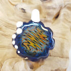 Blown Glass Art Pendant Heady Zigzag Made By Hand RARE One Piece In The World