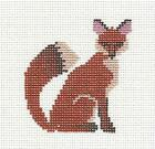 Adorable RED FOX handpainted Needlepoint Ornament Canvas by Petei P Pony