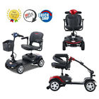 4 Wheel Folding Lightweight Compact Travel Mobility Scooter For Adult Outdoor
