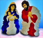 31 Pre Lit 2 PcHOLY Family NATIVITY SCENE Durable Outdoor Large Christmas Yard