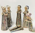 Rare Handmade Art Recycled Newspaper Nativity Scene Unique Christmas Decor