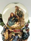 Vintage Nativity Musical Snow Globe Plays Silent Night 75 high 65 wide