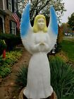 Blow Mold Union Angel With Blue Wings Christmas Lighted Outdoor Nativity 30