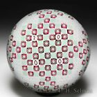 Saint Louis 2000 Croisez Murine patterned millefiori glass art paperweight