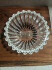 Gorgeous Small Tiffany  Co Crystal Hearts Rim Fluted Bowl