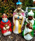 Vintage Empire Blow Molds Three 3 Wise Men Kings Lighted Nativity Christmas
