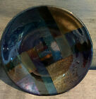 Fused Dichroic Glass Shallow Bowl Signed PAD 92
