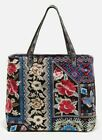 NWT Johnny Was Embroidered FLORENCE Everyday Canvas Tote Hand Washable Large