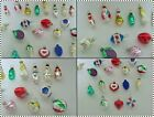 24 Vintage German Christmas Tree Glass Figural and Bumpy Ornaments ESTATE