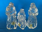 Princess House Nativity 3 Wise Men 24 Lead Crystal Made in Germany Box 915