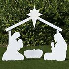 Holy Family Outdoor Nativity Set Large White