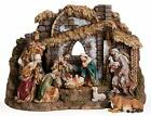 by Roman 10 Piece Nativity Set with Stable Includes Holy Family Three Kings