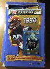 1994 topps finest football PARTIAL box Of 19 Factory Sealed Packs And Box