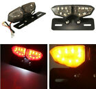 Motorcycles Red  Amber 18 LED License Plate Rear Tail Light Turn Signal Lights