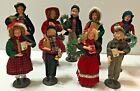 Lot 9 Old Time Pottery Christmas Carolers Figures Dolls 9  115 Dickens Era