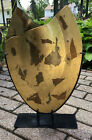 Artisan Glass One of a Kind Oval Abstract Vase with Metal Stand Benjamin Chang