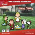 Peanuts Charlie Brown Nativity Lawn Decor set  High Resolution Weather Proof