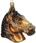 Equestrian Horse Head Polish Glass Christmas Ornament Made in Poland Decoration