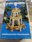 GERMAN CHRISTMAS NATIVITY PYRAMID 3 Tier WEIHNACHTS 7952 In Box New Never Used