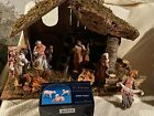 BEAUTIFUL VINTAGE 13 PC Manger Fontanini Depose Nativity Set 5 QUALITY