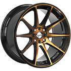 4 Shift H34 Gear 18x9 4x100 4x45 +30mm Black Bronze Wheels Rims 18 Inch