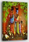African Art Festive Style Art Canvas Wall Art POSTER or CANVAS READY TO HANG