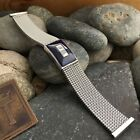 Evinger Stainless Steel Mesh Murano Glass 19mm 18mm 16mm nos Vintage Watch Band