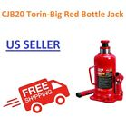 T92004 Torin Big Red Hydraulic Welded Bottle Jack Commercial Use 20 Ton
