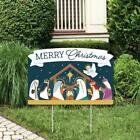 Christmas Holy Nativity Lawn Decorations Yard Sign