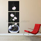 3Pcs Framed Modern Abstract Art Flower Canvas Print Painting Wall Picture