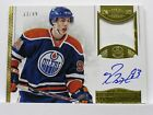 RYAN NUGENT-HOPKINS 2013 14 Dominion PATCH AUTO on card 33 99 OILERS Game Worn