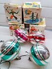 Set of 4 Glass toys USSR Christmas tree russia vintage rare lot 50 years native