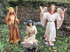 Outdoor Nativity All Metal 4 pieces Tallest Piece 51 Christmas FREE SHIPPING